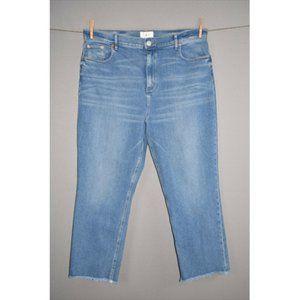 LOU & GREY High Rise Straight Crop Jean